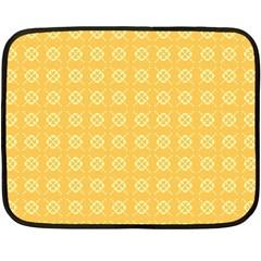 Yellow Pattern Background Texture Fleece Blanket (mini) by BangZart