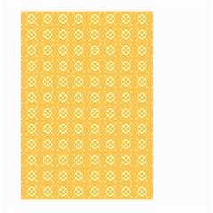 Yellow Pattern Background Texture Large Garden Flag (two Sides) by BangZart