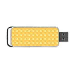 Yellow Pattern Background Texture Portable Usb Flash (two Sides) by BangZart