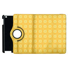 Yellow Pattern Background Texture Apple Ipad 2 Flip 360 Case by BangZart