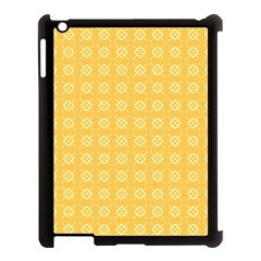 Yellow Pattern Background Texture Apple Ipad 3/4 Case (black) by BangZart