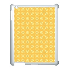 Yellow Pattern Background Texture Apple Ipad 3/4 Case (white) by BangZart