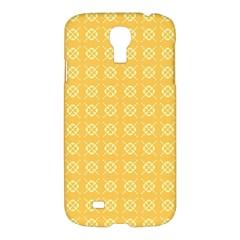Yellow Pattern Background Texture Samsung Galaxy S4 I9500/i9505 Hardshell Case by BangZart