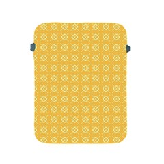 Yellow Pattern Background Texture Apple Ipad 2/3/4 Protective Soft Cases by BangZart