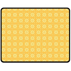 Yellow Pattern Background Texture Double Sided Fleece Blanket (medium)  by BangZart