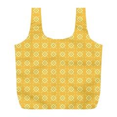 Yellow Pattern Background Texture Full Print Recycle Bags (l)  by BangZart