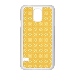 Yellow Pattern Background Texture Samsung Galaxy S5 Case (white) by BangZart