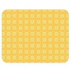 Yellow Pattern Background Texture Double Sided Flano Blanket (medium)  by BangZart