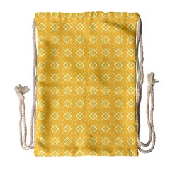 Yellow Pattern Background Texture Drawstring Bag (large) by BangZart