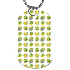 St Patrick S Day Background Symbols Dog Tag (two Sides) by BangZart