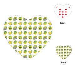 St Patrick S Day Background Symbols Playing Cards (heart)