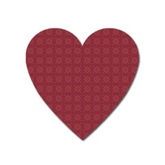 Purple Pattern Background Texture Heart Magnet by BangZart