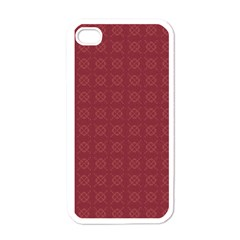 Purple Pattern Background Texture Apple Iphone 4 Case (white) by BangZart