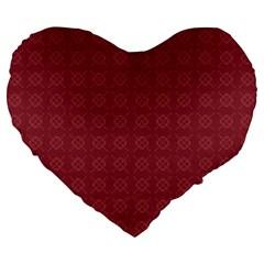 Purple Pattern Background Texture Large 19  Premium Flano Heart Shape Cushions by BangZart