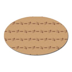 Brown Pattern Background Texture Oval Magnet by BangZart