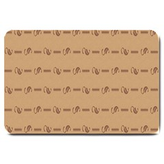 Brown Pattern Background Texture Large Doormat  by BangZart