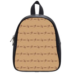 Brown Pattern Background Texture School Bags (small)  by BangZart