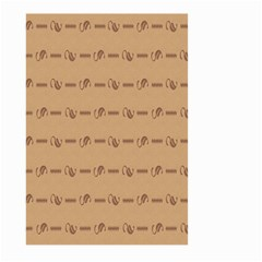 Brown Pattern Background Texture Large Garden Flag (two Sides) by BangZart