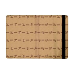 Brown Pattern Background Texture Apple Ipad Mini Flip Case by BangZart