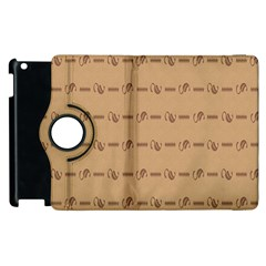 Brown Pattern Background Texture Apple Ipad 3/4 Flip 360 Case by BangZart