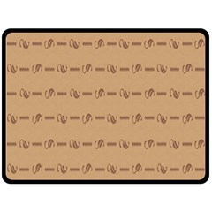 Brown Pattern Background Texture Double Sided Fleece Blanket (large)  by BangZart