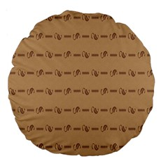 Brown Pattern Background Texture Large 18  Premium Flano Round Cushions by BangZart