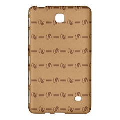 Brown Pattern Background Texture Samsung Galaxy Tab 4 (8 ) Hardshell Case  by BangZart