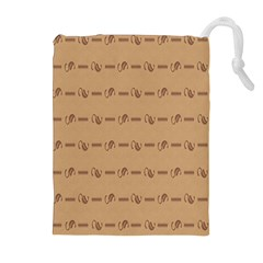 Brown Pattern Background Texture Drawstring Pouches (extra Large) by BangZart