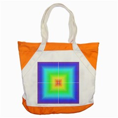 Square Rainbow Pattern Box Accent Tote Bag by BangZart