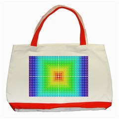 Square Rainbow Pattern Box Classic Tote Bag (red) by BangZart