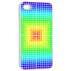 Square Rainbow Pattern Box Apple Iphone 4/4s Seamless Case (white) by BangZart