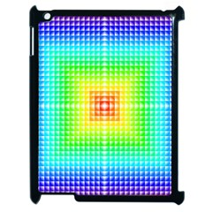 Square Rainbow Pattern Box Apple Ipad 2 Case (black) by BangZart
