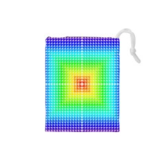 Square Rainbow Pattern Box Drawstring Pouches (small)  by BangZart