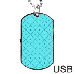 Pattern Background Texture Dog Tag Usb Flash (two Sides) by BangZart
