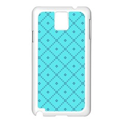 Pattern Background Texture Samsung Galaxy Note 3 N9005 Case (white) by BangZart