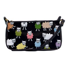 Sheep Cartoon Colorful Black Pink Shoulder Clutch Bags by BangZart