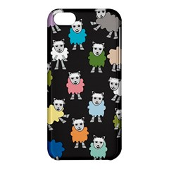 Sheep Cartoon Colorful Black Pink Apple Iphone 5c Hardshell Case by BangZart