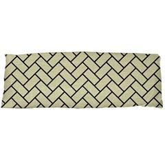 Brick2 Black Marble & Beige Linen (r) Body Pillow Case Dakimakura (two Sides) by trendistuff