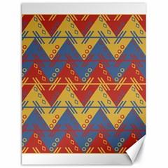 Aztec South American Pattern Zig Canvas 18  X 24   by BangZart