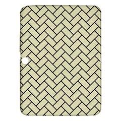 Brick2 Black Marble & Beige Linen (r) Samsung Galaxy Tab 3 (10 1 ) P5200 Hardshell Case  by trendistuff