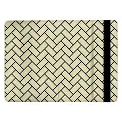 Brick2 Black Marble & Beige Linen (r) Samsung Galaxy Tab Pro 12 2  Flip Case by trendistuff