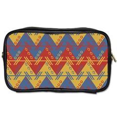 Aztec South American Pattern Zig Toiletries Bags by BangZart