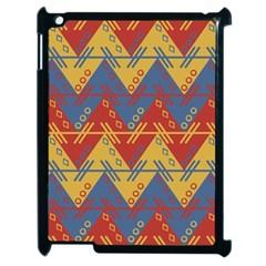 Aztec South American Pattern Zig Apple Ipad 2 Case (black) by BangZart