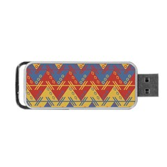 Aztec South American Pattern Zig Portable Usb Flash (two Sides) by BangZart