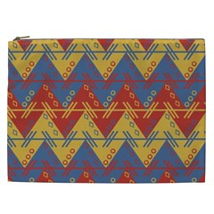 Aztec South American Pattern Zig Cosmetic Bag (xxl)  by BangZart