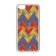 Aztec South American Pattern Zig Apple Iphone 5c Seamless Case (white) by BangZart