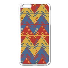 Aztec South American Pattern Zig Apple Iphone 6 Plus/6s Plus Enamel White Case by BangZart