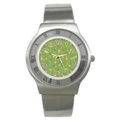 Balloon Grass Party Green Purple Stainless Steel Watch by BangZart