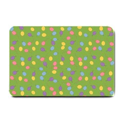 Balloon Grass Party Green Purple Small Doormat  by BangZart