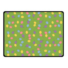 Balloon Grass Party Green Purple Fleece Blanket (small) by BangZart